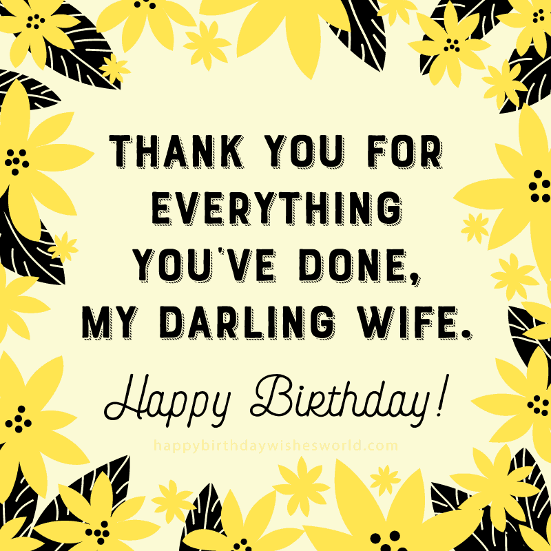thanking birthday wishes for wife