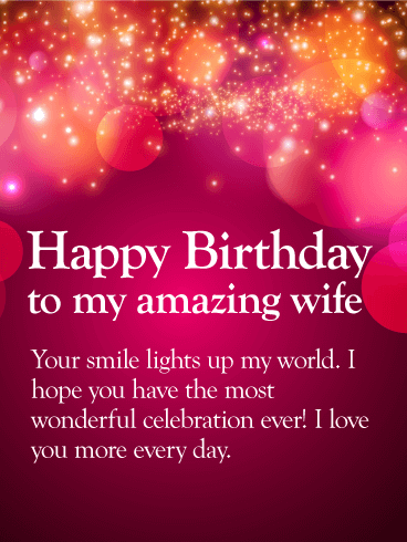 amazing birthday wishes for wife hd