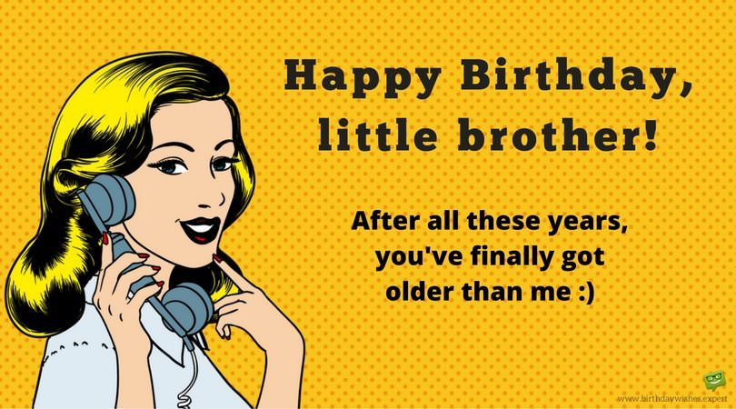 funny birthday images for brother
