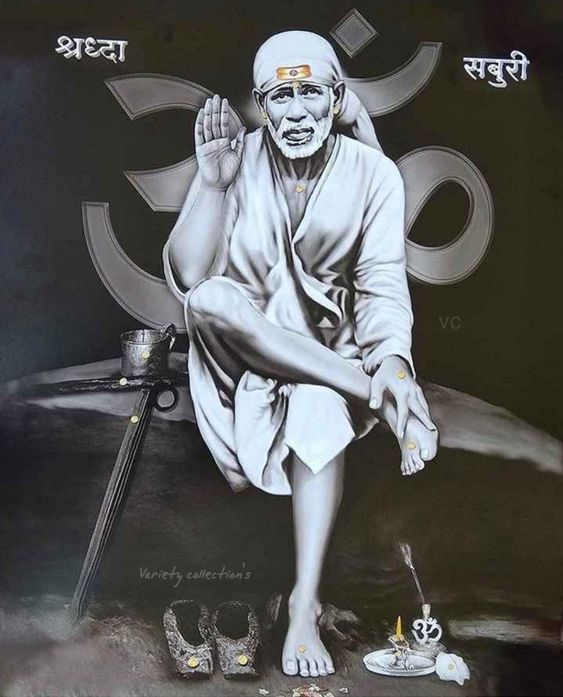 black and white sai baba images download